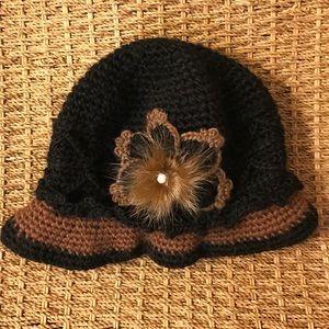 New Cute Winter Flower Hat